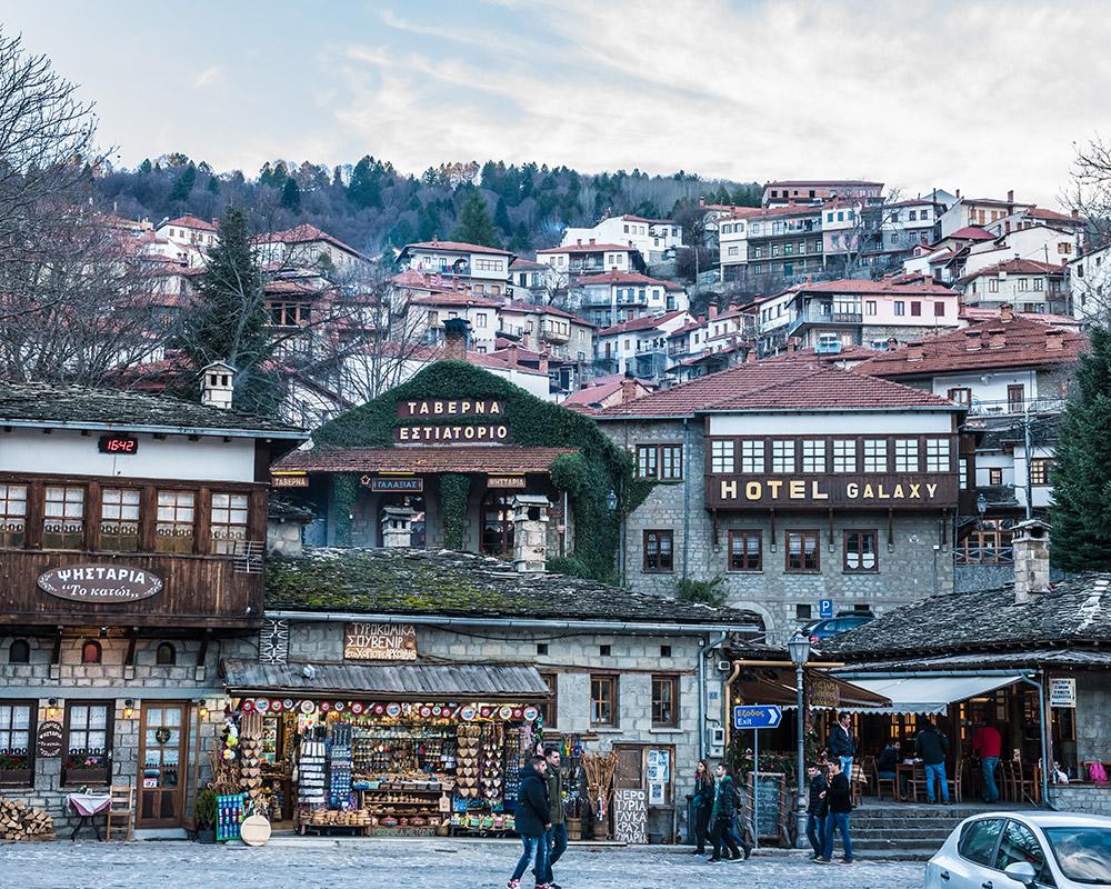 Κεντρική πλατεία Μετσόβου