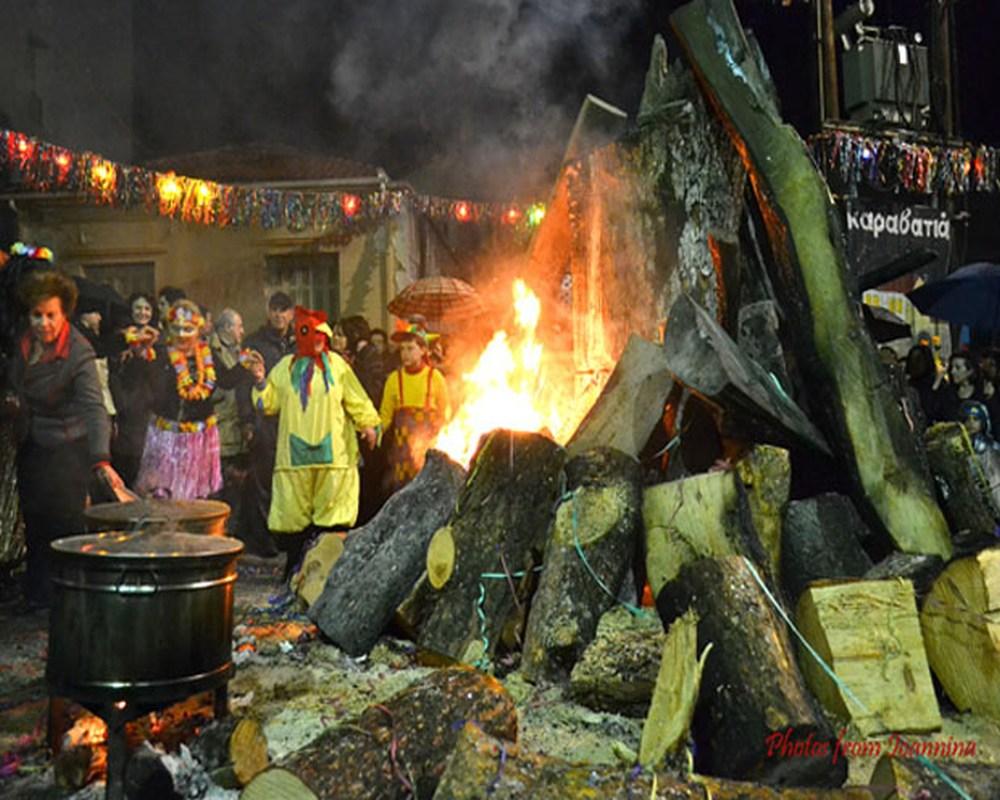 Απόκριες Γιάννενα 2018 Φωτιές Τζαμάλες